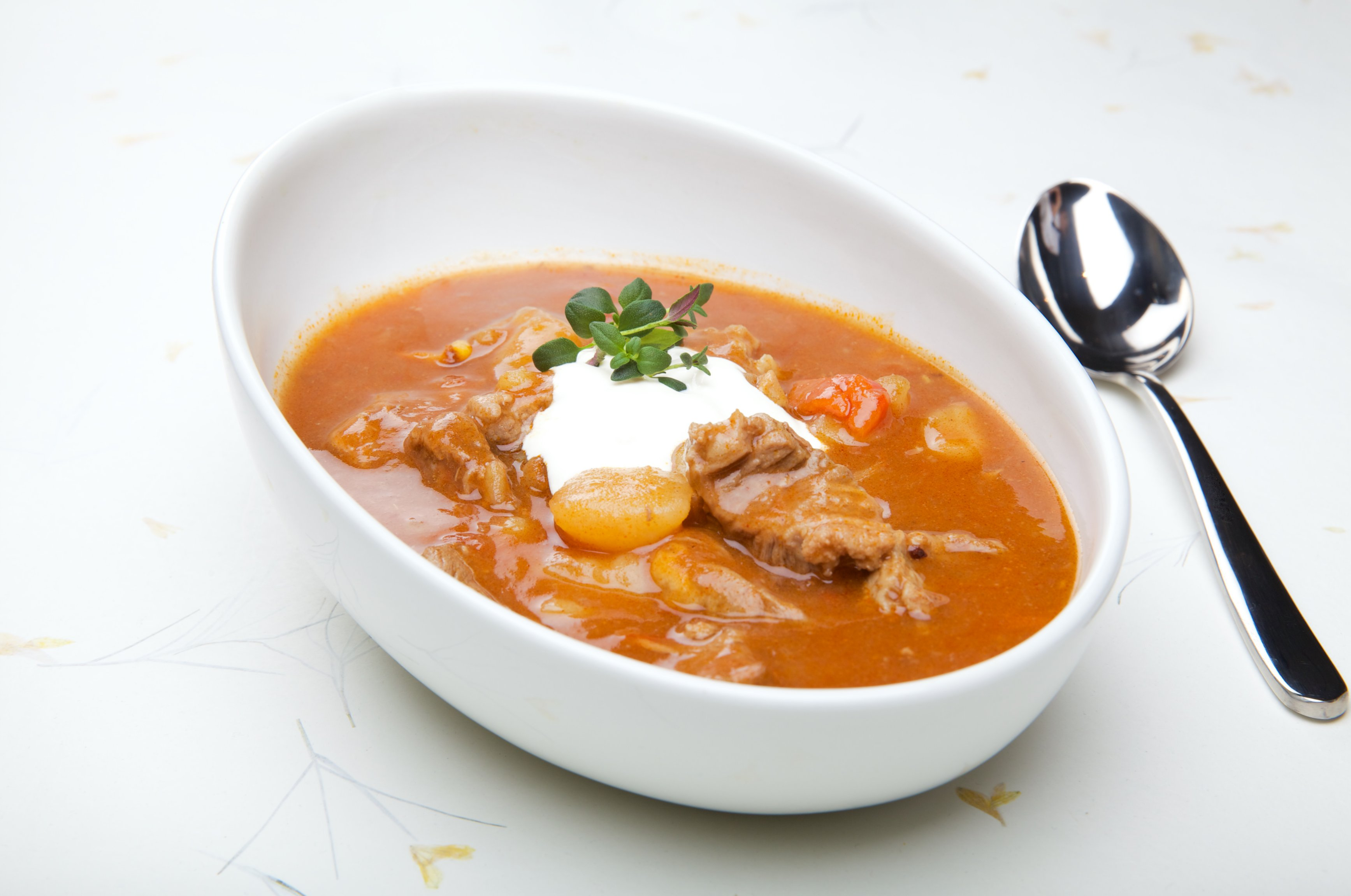 Gulasj suppe. Foto.
