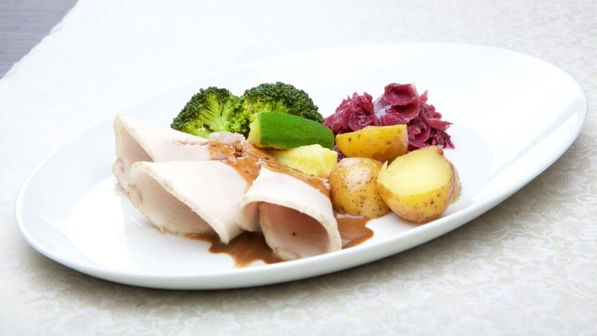 Skinkesteik med grønnsaker